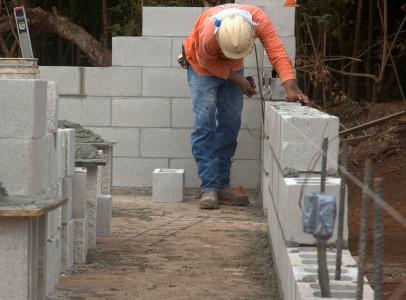 Menschen auf dem Bau